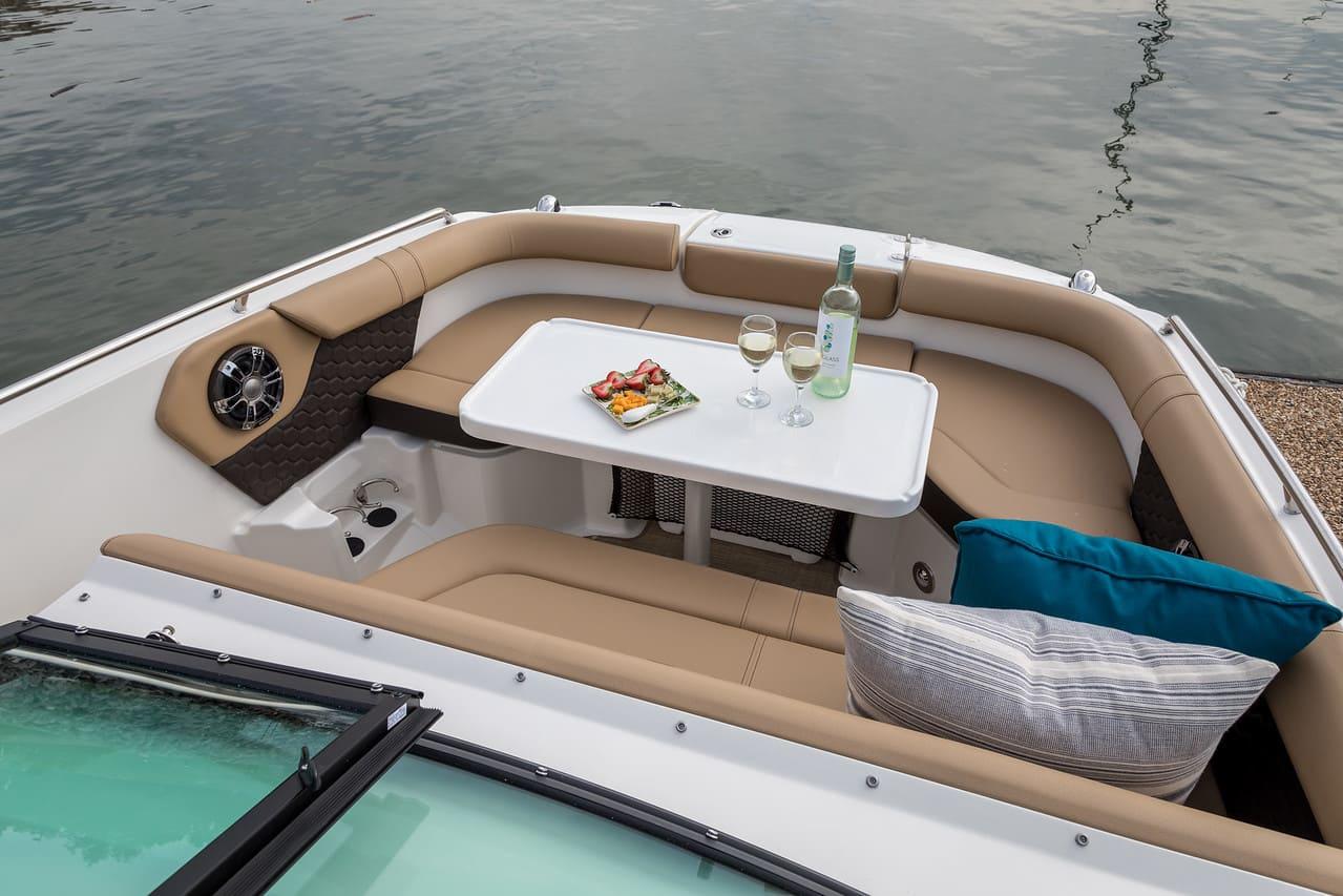 Sea Ray SDX 250 Hors Bord salon extérieur